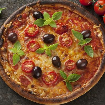 Glutenvrije pizza margherita