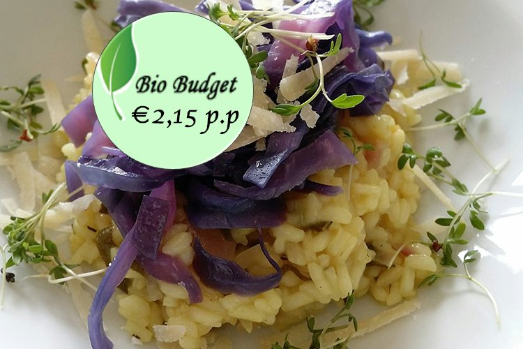 Bio Budget gluten- en lactosevrij: risotto met rode spitskool en salie