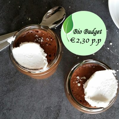 Bio Budget recept: lactose- en glutenvrije choco-mousse special