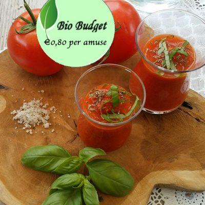 Geen zin om te koken? Check Sandra's supersnelle Gazpacho recept