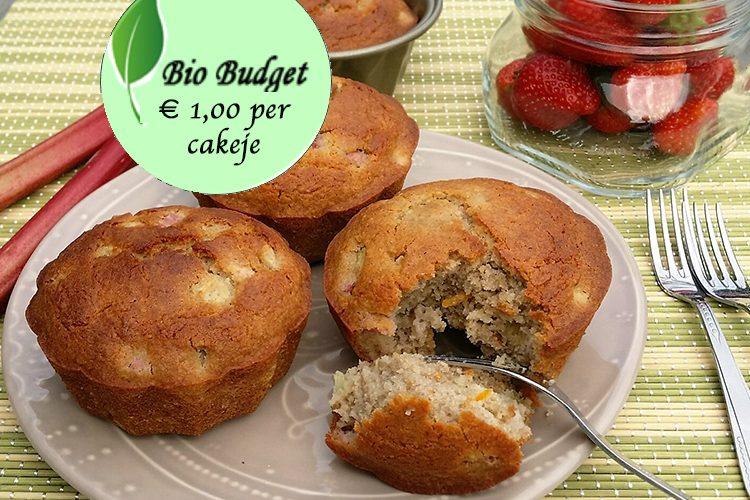 Bio Budgetrecept: rabarbercakejes