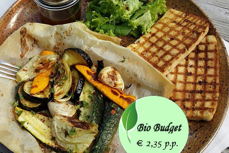 Bio Budgetrecept: groenten uit de oven met gegrilde tofu en nori