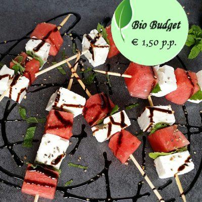 Bio Budgetrecept: frisse watermeloen met feta en munt
