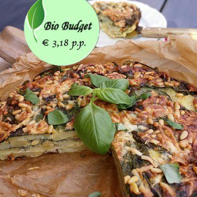 Bio Budgetrecept: spinazie-aardappeltaart