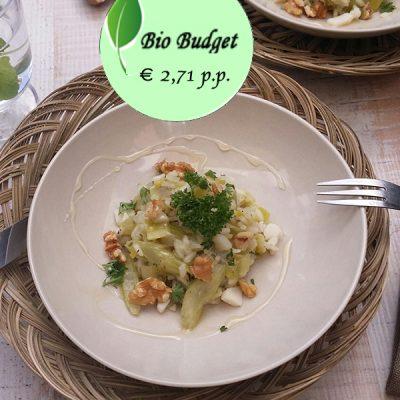 Bio Budgetrecept: risotto met bleekselderij