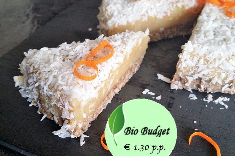 Bio Budgetrecept: kokos-sinaasappeltaartje