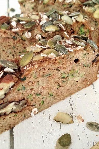 Bio gluten- / lactosevrij courgette ontbijtbrood