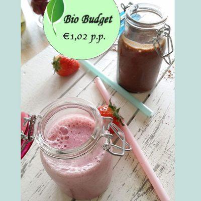 Bio Budgetrecept: lactosevrije milkshakes met choco of vlierbes