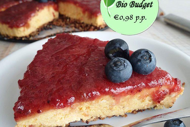 Bio Budgetrecept: cheesecake met zoete aardappel