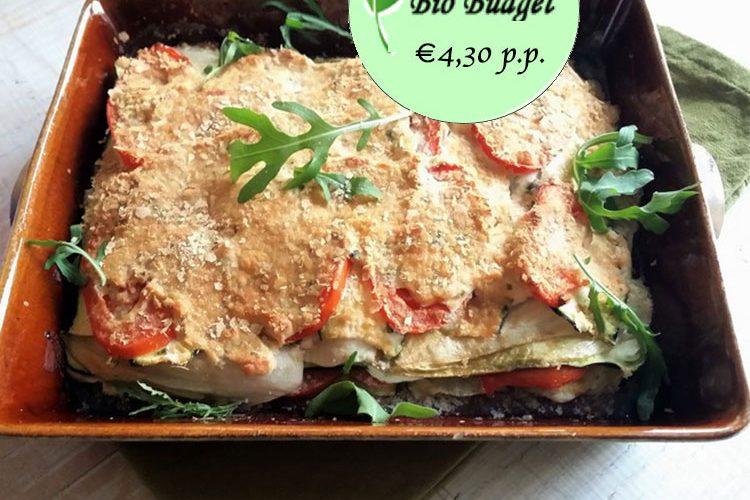 Bio Budgetrecept: groente lasagne uit de oven met witlof en courgette