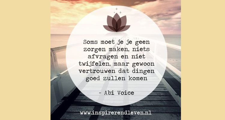 abi voice spreuken Spreuk van de week #25   Live Green Magazine   Healthy you  abi voice spreuken