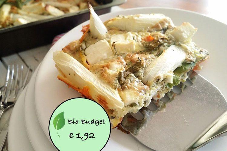 Bio Budgetrecept: groente omelet uit de oven