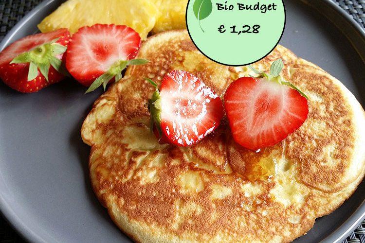 Bio Budgetrecept: kokos pancakes