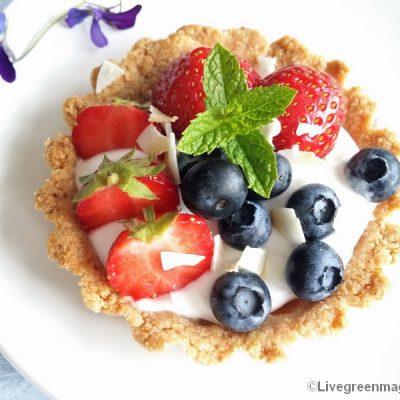 Bio amandel-fruittaartje, lactose- en glutenvrij