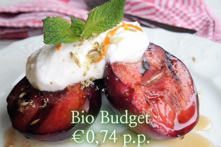 Sandra's biobudget gegrild steenfruit