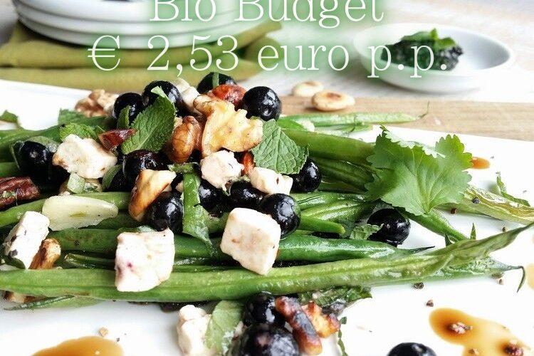 Sandra's biobudget groentegerecht met BlueBerry-Salsa