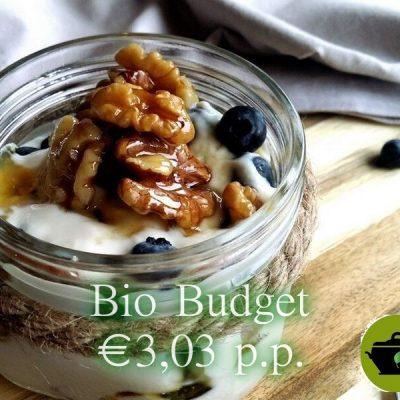 Sandra's bio budget Yoghurt ontbijtje