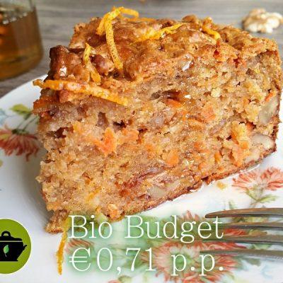 Sandra's biobudget wortel-koekkruidencake