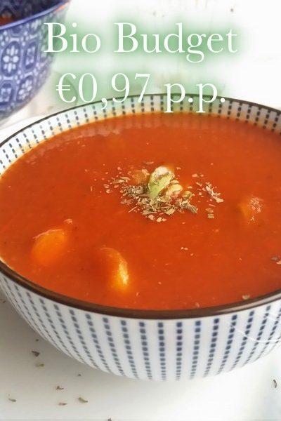 Vegan biobudget tomatensoep