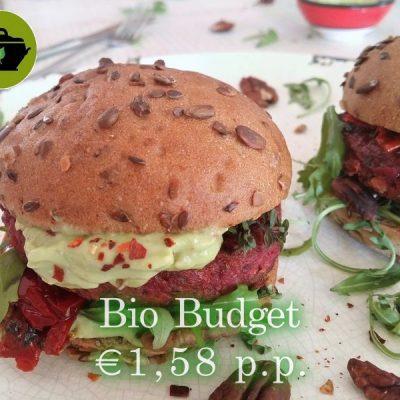 Sandra's vegan biobudget Rode Bietenburger