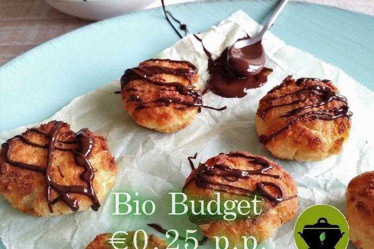 Biobudget kokosmakronen met chocolade