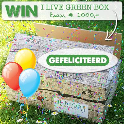 DE WINAAR VAN DE I LIVE GREEN BOX TER WAARDE VAN € 1.000,-