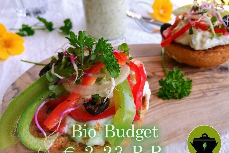Biobudget lunchbroodje tzatziki met paprikasalade