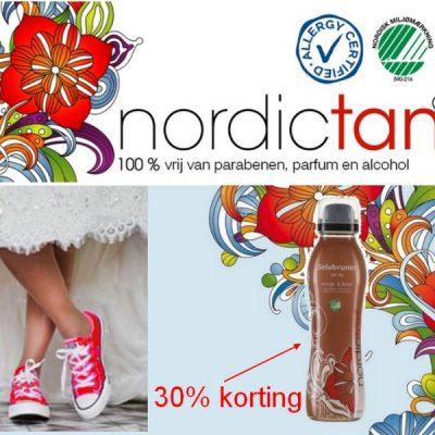 30% korting op bruine kerstbenen; AllergyCertified, Vegan + NordicSwan