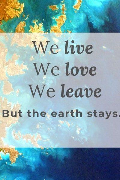 Quote en vraag week#24 gaan over het leven na ons